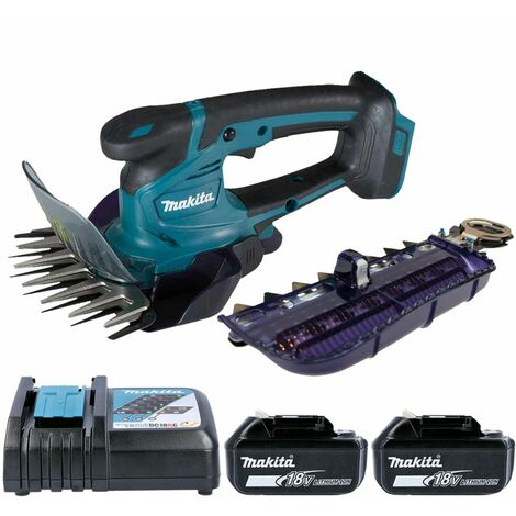 Makita DUM604 18V LXT Grass Shears 160mm With 2 x 6.0Ah Batteries & Charger