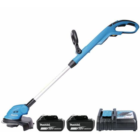 Makita DUR181 18V Grass Line Trimmer With 2 x 5.0Ah Batteries & Charger