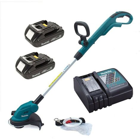 Makita DUR181 LXT 18v Li Ion Cordless Line Trimmer Strimmer 2x Batteries Charger