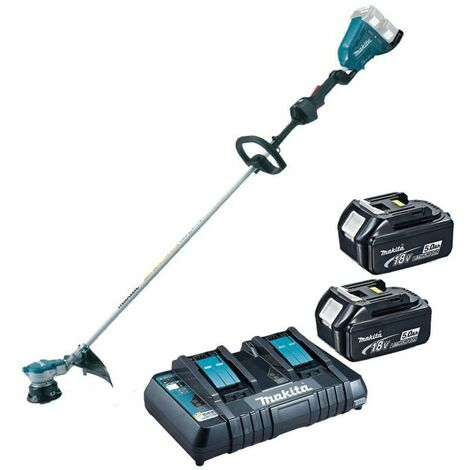 Makita DUR364PT2 Twin LXT 18v 36v Brushless Line Trimmer - 2 x 5.0ah Charger
