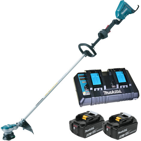 Makita DUR364Z 36V Brushless Line Trimmer with 2 x 6.0Ah Battery & Twin Port Charger
