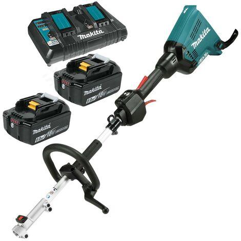 Makita DUX60PG2 Brushless Twin 18v 36v LXT Cordless Split Shaft Multi Tool 2x6ah