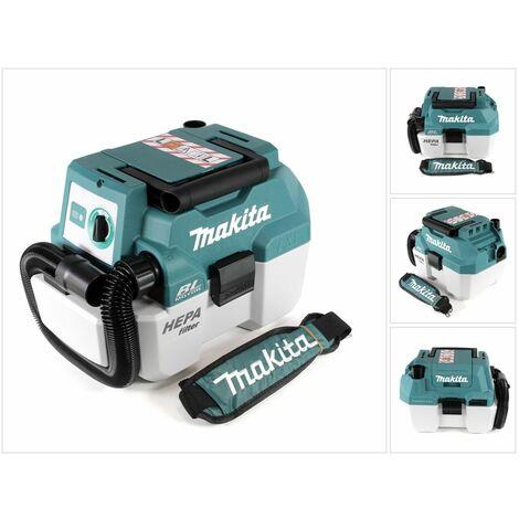 Makita DVC 750 LZX1 Aspirateur transportable humide/sec sans fil 18 V - sans accessoires, sans Batterie, sans Chargeur