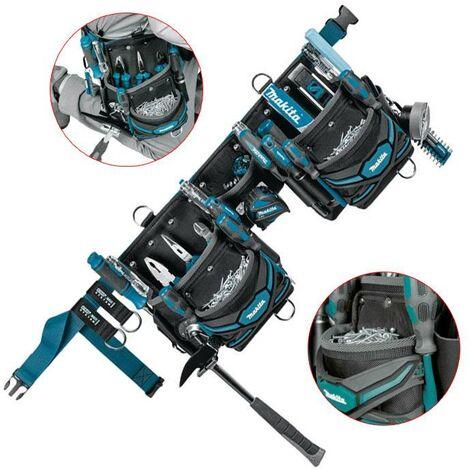 Makita E-05169 3 Pouch Super Heavyweight Duty Tool Belt Set + Strap Loop System