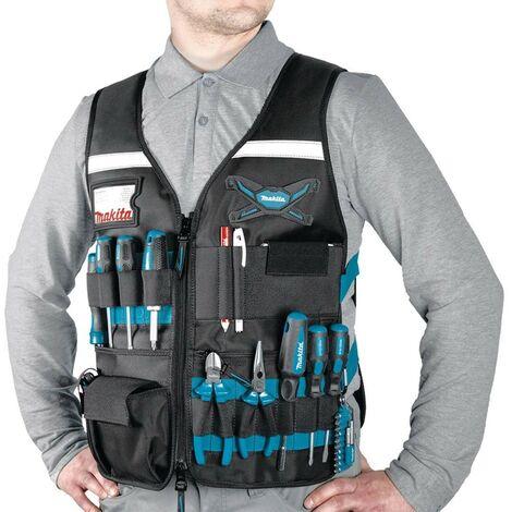 Makita E-05636 Adjustable Multi Pocket Workers Vest Gilet - Universal Size