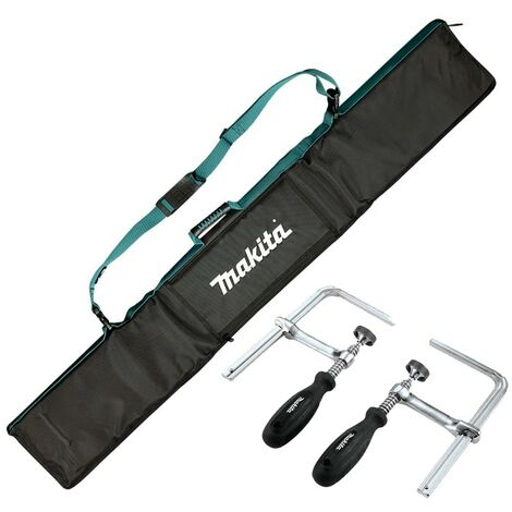 Makita E-05664 Guide Rail Bag Strap System for 1.4m Rail + 2 x 194385-5 Clamps