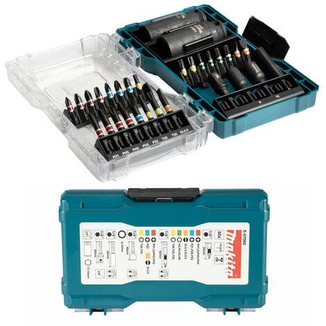 "main image of ""Makita E-07060 30 PC Black Colour Coded Drill Bit Set Pz Tx + 19mm + 17mm Socket"""