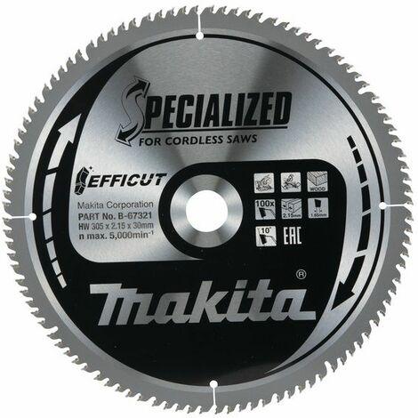 Makita EFFICUT Lame de scie 305x30 mm, 100 dents - B-67321