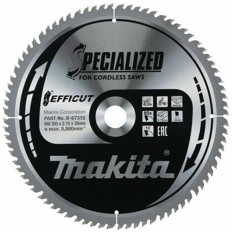Makita EFFICUT Lame de scie 305x30 mm, 80 dents - B-67315