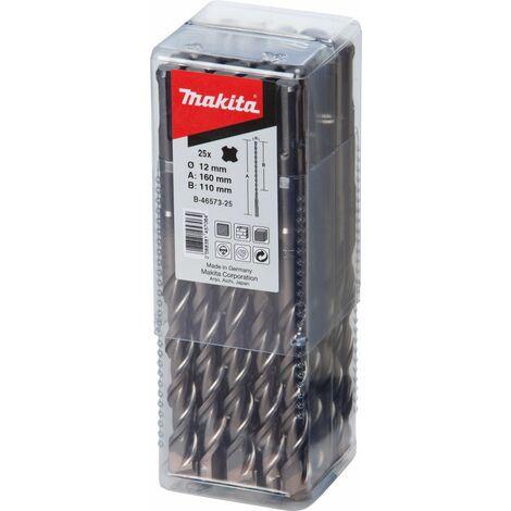Makita Forets SDS-Plus, 10x210mm, 25 pièces - B-47569-25