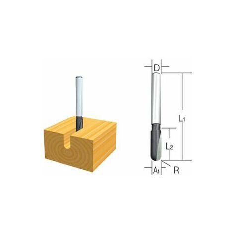 Makita Fraises droites arrondie 2 taillants 6mm - D-09329