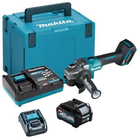 Makita GA004GD101 40v Max XGT 115mm Brushless Angle Grinder + Battery + Charger
