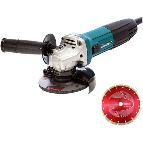 Makita GA4530R 115mm Angle Grinder 110V With 1 Diamond Blade
