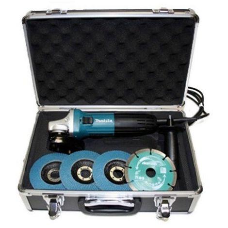 MAKITA GA4530RX1 - Miniamoladora 720w 115mm anti-restart maletín con acc