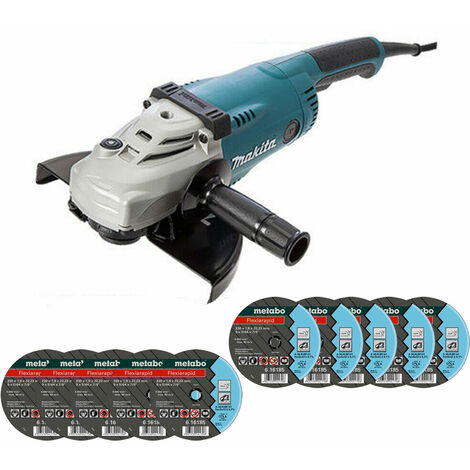 Makita GA9020 9in/230mm Angle Grinder 110V With Extra 10 Metal Cutting Discs