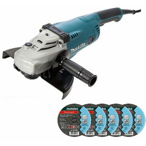 Makita GA9020 9in/230mm Angle Grinder 110V With Extra 5 Metal Cutting Discs
