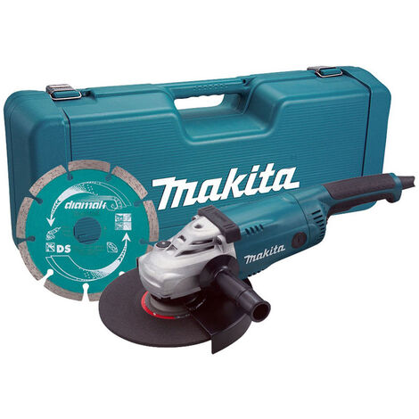 "Makita GA9020KD 110V 9""/230mm Angle Grinder with Case & Diamond Blade"