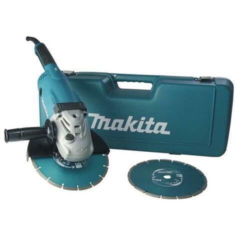 Makita GA9020RFK3 - Meuleuse d'angle + 2 disques diamant dans coffret - Softstart - 2200W - 230mm - Softstart