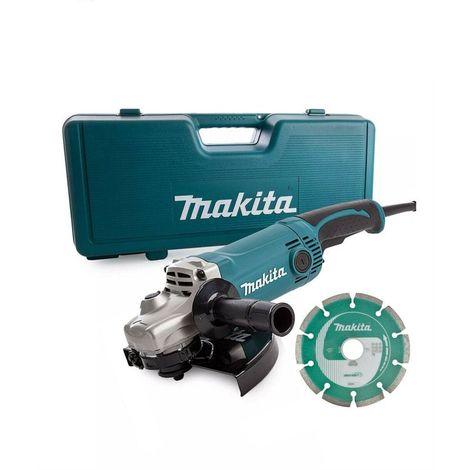 Makita GA9050KD 230mm Angle Grinder 240v in Case + Diamond Blade