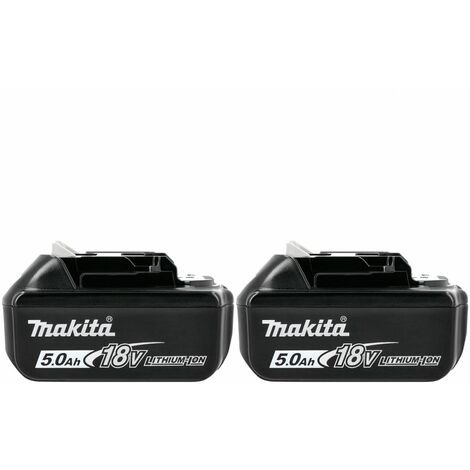 Makita Genuine BL1850 18V 5.0Ah Li-Ion LXT Battery Twin Pack