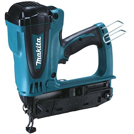 Makita Gf600se Second Fix Gas Nailer Complete With 2 X 7.2 V Li-ion Batteries And Charger In A Carry Case