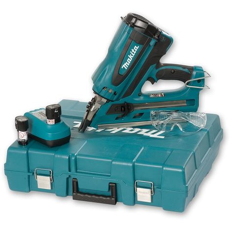 Makita GN900SE 7.2V Cordless 90mm First Fix Gas Nailer with 2x1.5Ah Batteries Charger In Case
