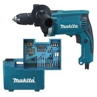 Makita HP1631KX3 - Taladro percutor 710W 13mm + accesorios