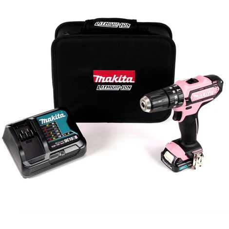 Makita HP331DSAP1 10.8V Batería de ión de litio de impacto / destornillador (1x 2Ah batería) en la bolsa - PINK