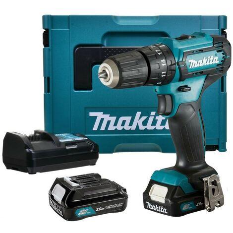 Makita HP333DWAEJ 10.8v 12v Max Lithium Ion Cordless CXT Combi Drill 2 Batteries