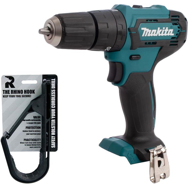 Makita HP333DZ 12V CXT MAX Slide Combi Drill Body with Rhino Hook Tool Belt:12V