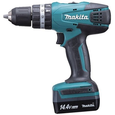 MAKITA HP347DWE3 - Taladro percutor 14.4v con 3 baterias litio-ion 1.1 ah 1400 rpm 1.5 kg hp347dwe