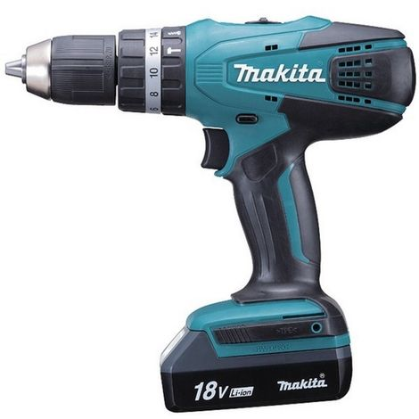 MAKITA HP457DWE3 - Taladro percutor 18v con 3 baterias litio-ion 1.1 ah 1400 rpm 1.7 kg 42 nm