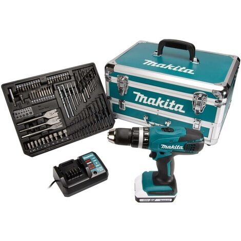 Makita HP457DWX4 18v Combi Drill in Flight Case with 70 Accesories
