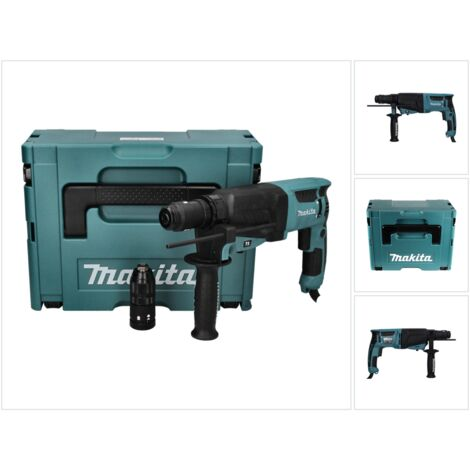 Makita HR 2630 TJ Perforateur burineur 800 W 2,4 J SDS Plus + Coffret Makpac + Mandrin rapide