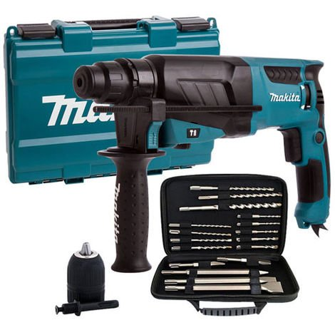 Makita HR2630 110V SDS+ 3 Mode Rotary Hammer Drill with Extra Accessories