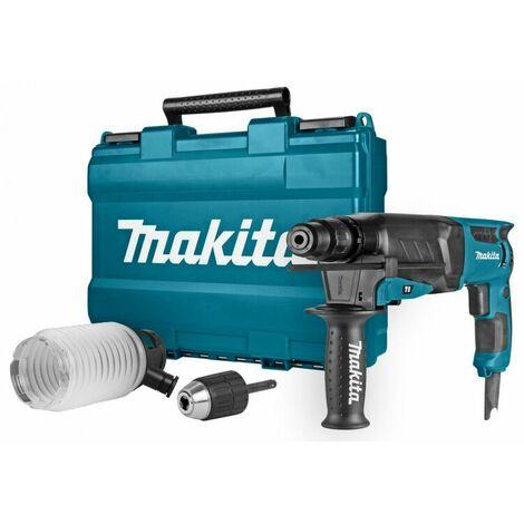 Makita HR2630X2 Perfo-burineur SDS-plus inclu. mandrin changement rapide & set d'aspiration dans coffret - 800W - 2,4J-