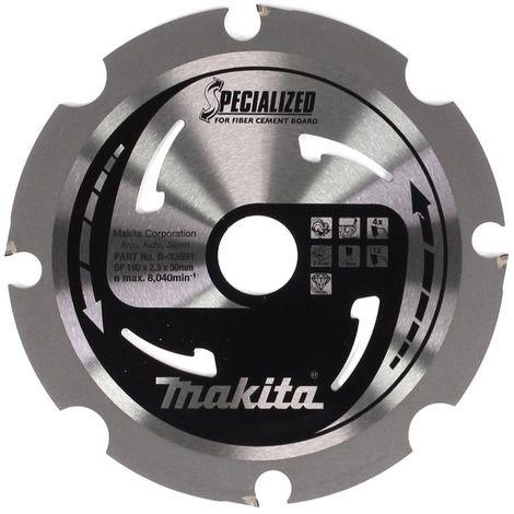 Makita HS 7611 1600 W Scie circulaire 190 mm + 1x Lame de scie carbure + 1x Lame de scie Makita SPECIALIZED pour fibrociment