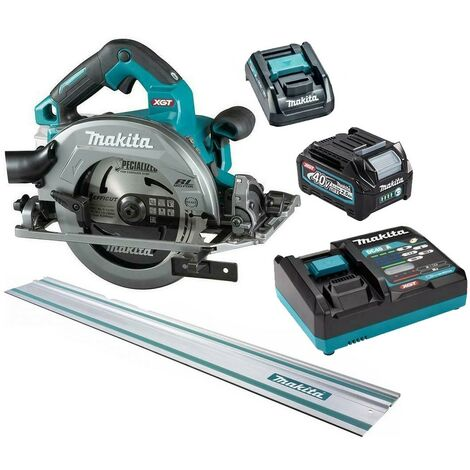 Makita HS004GD103 40v Max XGT 190mm Brushless Circular Saw + Battery + 1 Rail