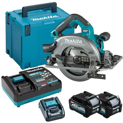 Makita HS004GD203 40v Max XGT 190mm Brushless Circular Saw + 2 Battery + Charger