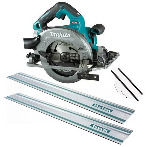 Makita HS004GZ 40v Max XGT 190mm Brushless Circular Saw Bare Unit + 2x 1.5m Rail