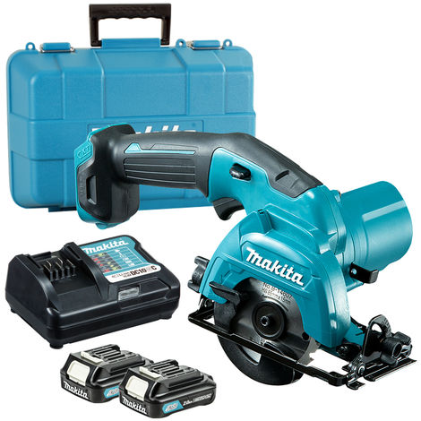 Makita HS301DWAE 10.8V CXT 85mm Circular Saw with 2 x 2.0Ah Batteries & Charger In Case:10.8V