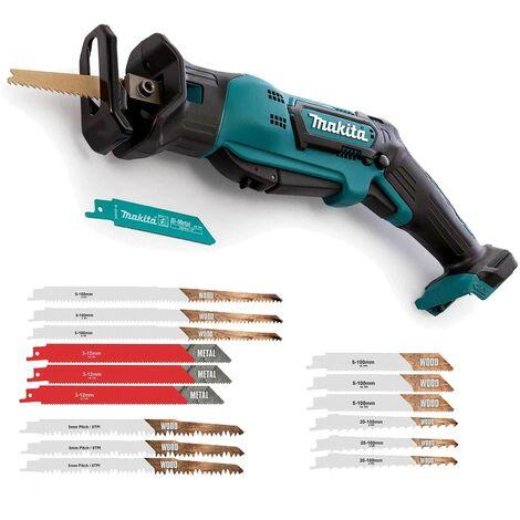 Makita JR105DZ 10.8v CXT Cordless Reciprocating Saw - Bare Unit & 15 Blades