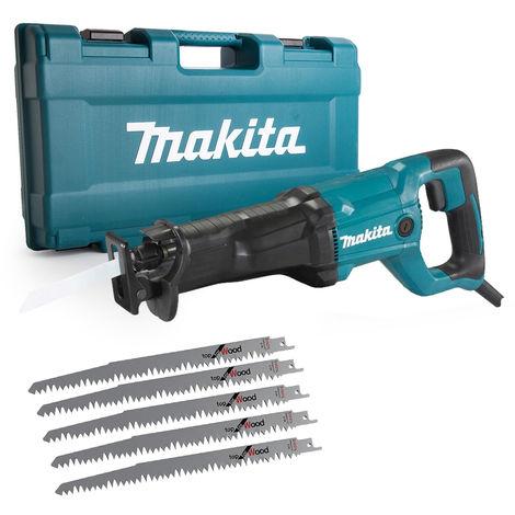 Makita JR3051TK/2 Reciprocating Saw in Case 240V with 5 x 240mm Extra Blades:240V