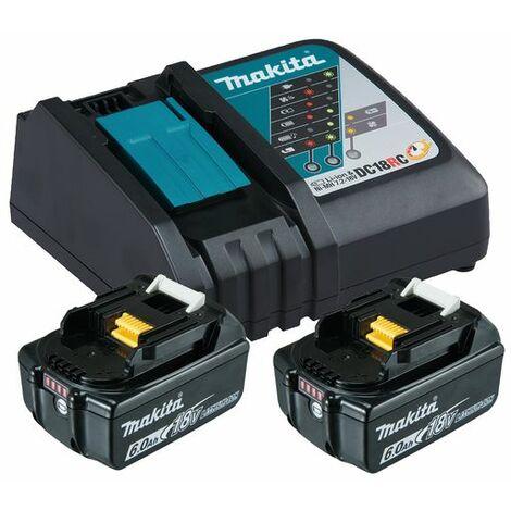 Makita Kit batteries 18V 2 x 6,0 Ah Li-Ion battere et un chargeur - 199480-6