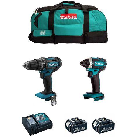 MAKITA Kit MK206 (DHP482 DTD152 2 x 5,0 Ah DC18RC LXT600)