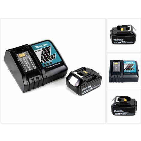 Makita Kit Power Set con 1x Batteria BL 1860 B 6,0 Ah 18 V + Caricatore rapido DC 18 RC