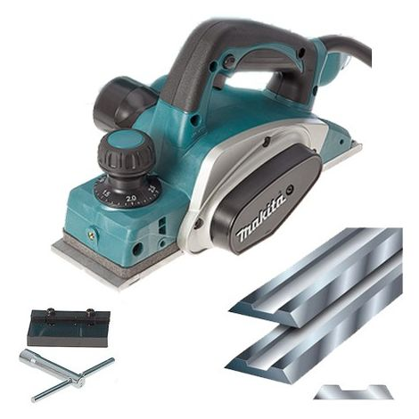 "Makita KP0800 3""/82mm Planer 240V With 82mm Planner Blades"