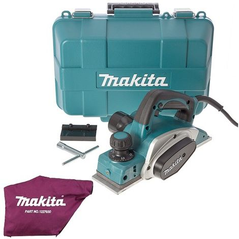 "Makita KP0800K/1 110V 3""/82mm Duty Planer in Carry Case With Dust Bag"