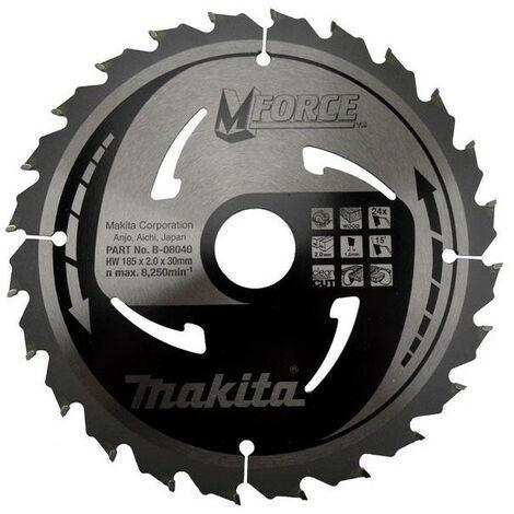 Makita - Lame carbure pour bois Ø 185mm 30x24dents