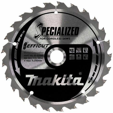 Makita Lame de scie 165x1,4x20, 25D EFFICUT - B-62985